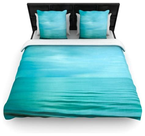 Teal Blue Duvet Cover Iris Lehnhardt Quot Calm Sea Quot Blue Teal Cotton Duvet Cover
