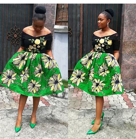 simple ankara short gown styles fashenista