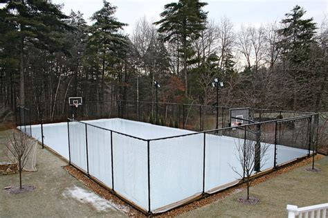 backyard ice rink forum backyard game court for every sport converts to ice