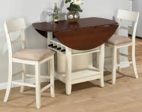 awesome Cheap Kitchen Tables For Small Spaces #1: shabby-chic-drop-leaf-dining-table-for-small-spaces-in-wooden-with-white-comfy-chairs-beautified-with-vase-and-wine-plus-wooden-flooring.jpg