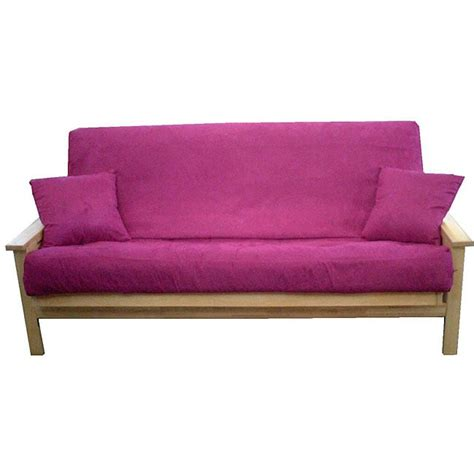 size microfiber purple 3 futon cover set