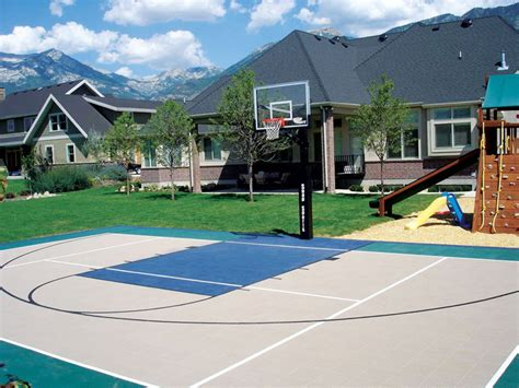 backyard sports courts home backyard basketball court flooring tiles quotes