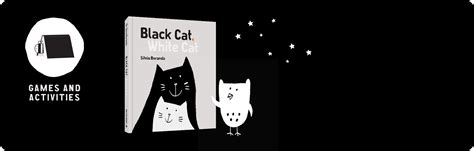 libro the white cat and minibombo games and activities black cat white cat