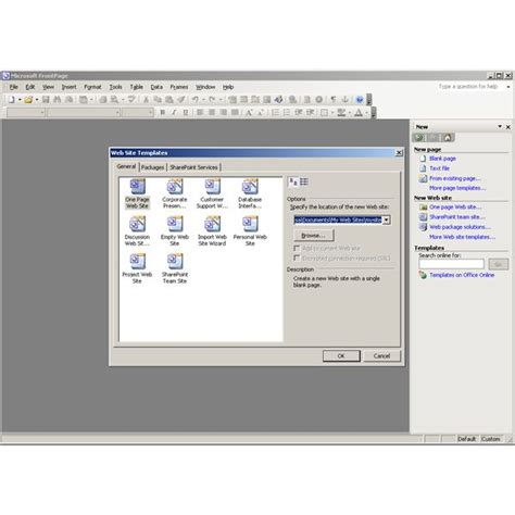 microsoft office tools with frontpage 2003
