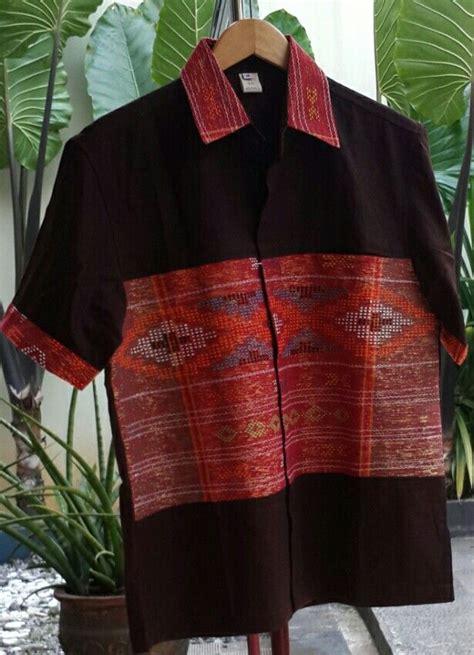 Kemeja Batik Pria Batik Ulos Batak tenun ulos linen kemeja kain tenun linens
