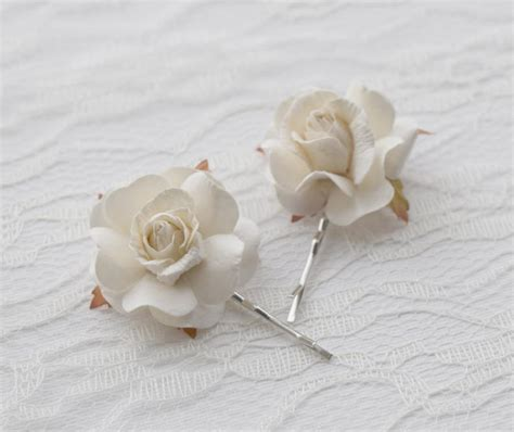 Wedding Hair With Roses by White Hair Wedding Hair Accessories Bridal