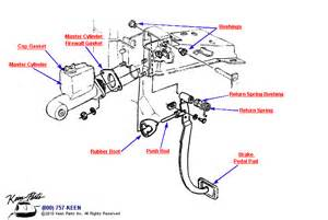 Brake Pedal System Diagram 1965 Corvette Brake Pedal Parts Parts Accessories For