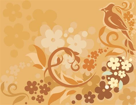 pattern background cdr vector floral background bird in the picture cdr file