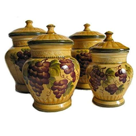 grape canister sets kitchen ceramic kitchen canister sets
