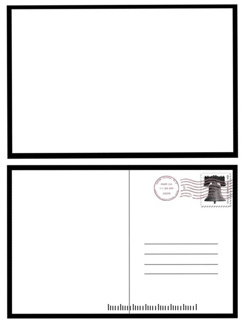 free blank postcard template 7 best images of postcard back template free blank