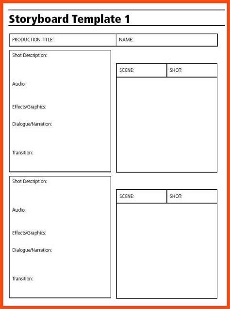 free storyboard templates for word storyboard template word program format