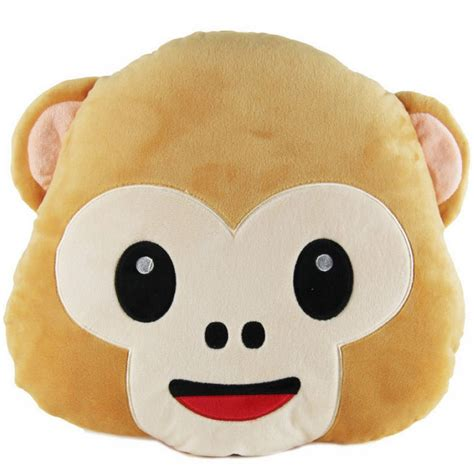 Hairdryer Emoji 40cm lovely emoji monkey throw pillow plush stuffed cushion office home sofa decoration gift at