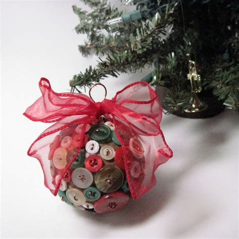 button christmas ornament upcycled recycled vintage by