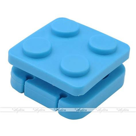 Diskon Xiaomimi Earphone Cable Holder Blue block earphone holder headphone wire organizer cable cord wrap earbud winder new ebay