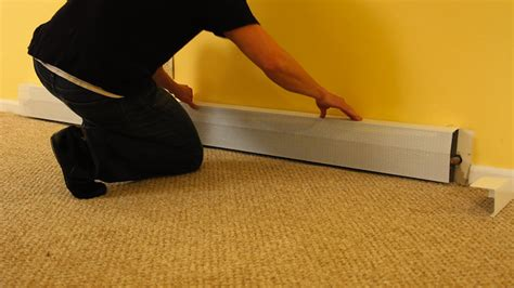 replacing an electric baseboard heater how to replace a baseboard heater cover modernize