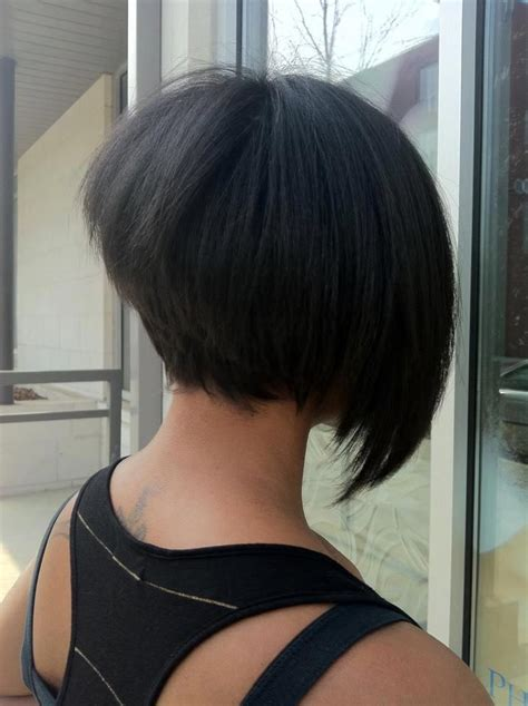 back of short asymetrical haircuts staked asymmetrical bob back view hairstyles colors i