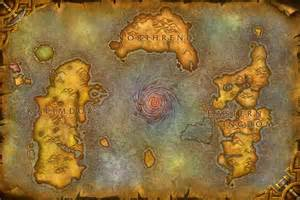Wow World Map by World Of Warcraft Wow Map Of Azeroth Minecraft Project
