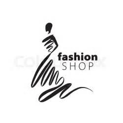 Vector logo for womens fashion. Illustration of girl