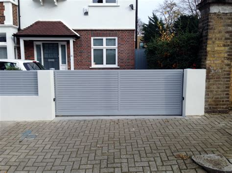 front boundary wall screen automated electronic gate