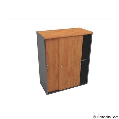 jual uno lemari arsip pendek pintu sliding kayu ust 4454