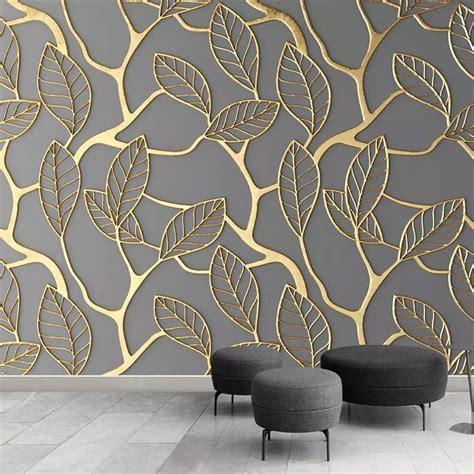 custom photo wallpaper  walls  stereoscopic golden