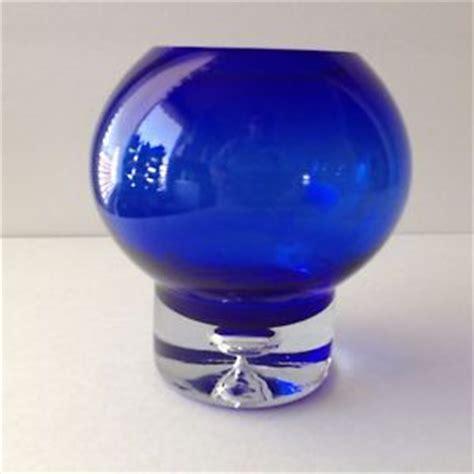 cobalt blue glass l base vintage cobalt blue vase glass finished