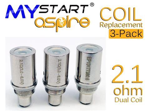Aspire Bdc Replaceable Dual Coils 2 1 Ohm 5 mystart aspire bdc replacement coil 2 1 ohm electronic cigarette in charleston south carolina