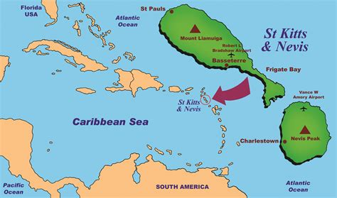 st kitts and nevis map about skn