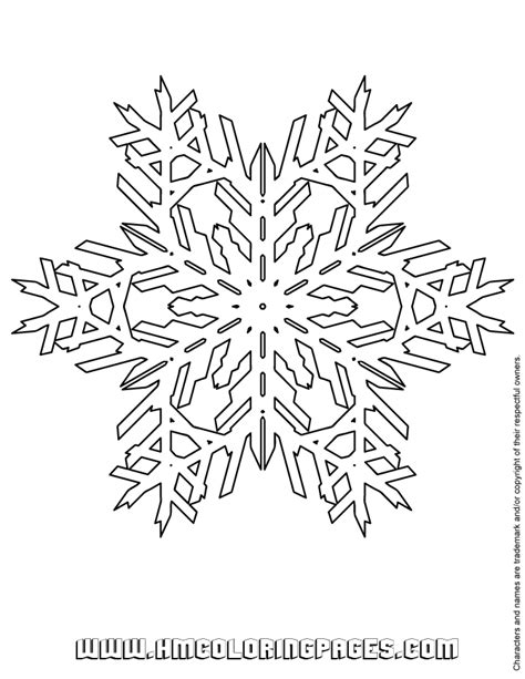 snowflake pattern to color difficult snowflake pattern coloring page h m coloring