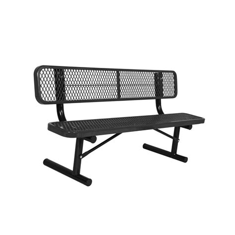 black park bench ultra play 6 ft diamond green in ground commercial park