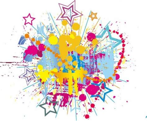 wallpaper bintang warna warni percikan warna warni cerah tinta dengan bintang vector
