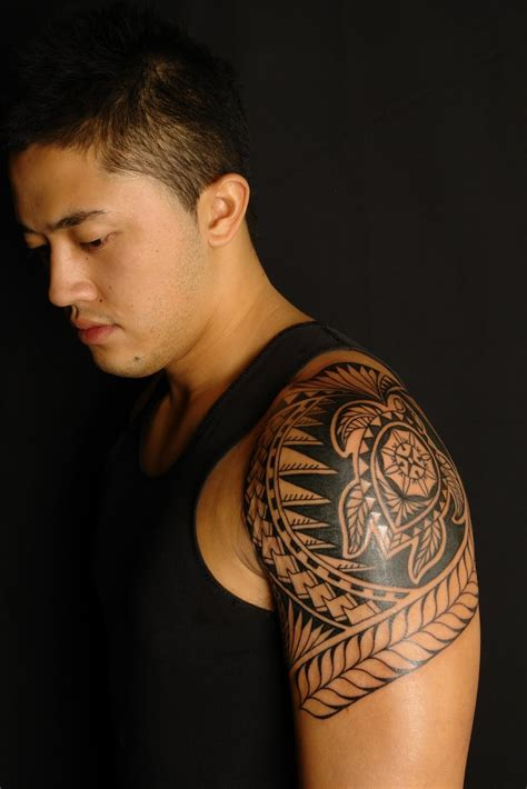 left shoulder tribal tattoo tribal turtle on left shoulder tattooshunt