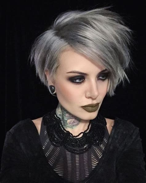 why are grey hairs harder to cut the 25 best ideas about short silver hair on pinterest