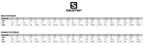 shoe size chart salomon salomon s lab sense 6 unisex trail running shoes racing