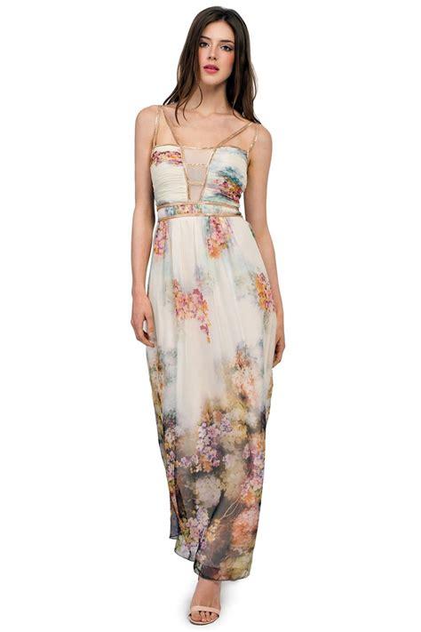 light in the box flower dresses light blue multi print floral embellished chiffon maxi dress