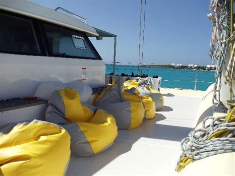 Boat Bean Bag Chairs Fun Bean Bag Seats On The Boat Picture Of Grand Case