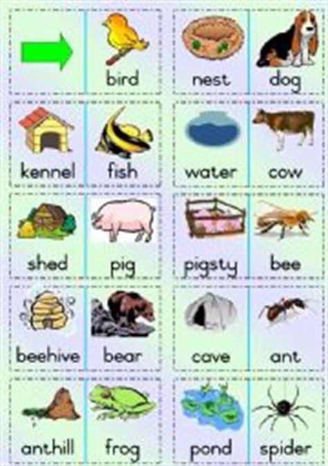 printable animal habitat matching game english exercises animal homes