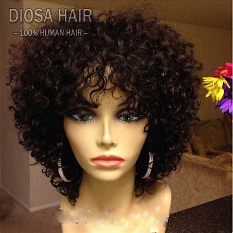 human hair wigs curly peruvian remy hair
