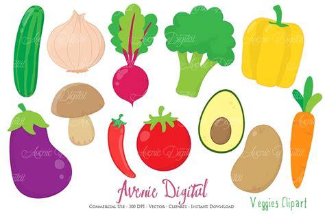 vegetable clip vegetables clipart vectors illustrations creative market