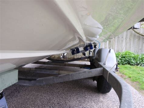 boat trailer roller conversion converting from rollers to bunks help the hull truth