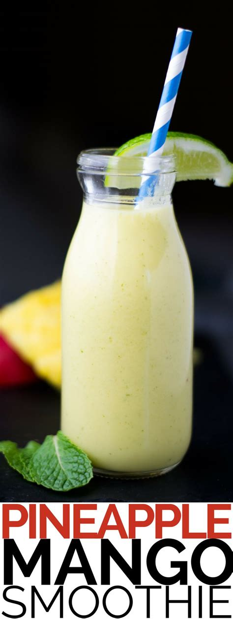 Detox Smoothie Recipes With Coconut Water by Best 25 Mango Pineapple Smoothie Ideas On
