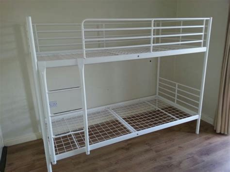 White Bunk Beds Ikea Image Gallery Ikea Metal Bunk Bed