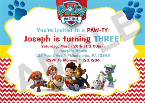 printable birthday invitations paw patrol paw patrol birthday invitations paw patrol birthday
