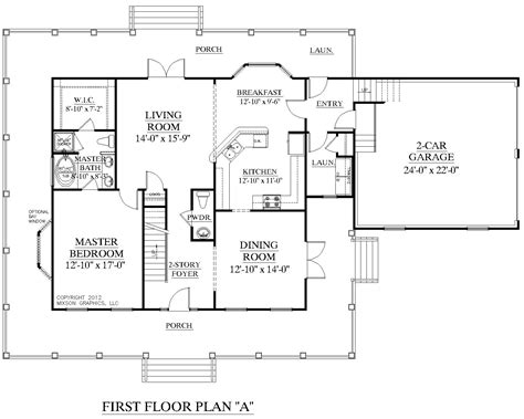 floor plan of 2 bedroom house house plan 2341 a montgomery quot a quot first floor plan