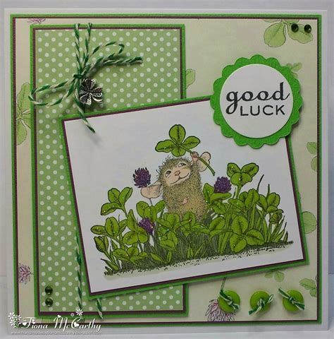 Handmade Luck Cards - handmade by fiona mccarthy house mouse luck card