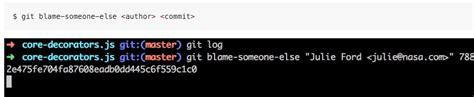 git tutorial blame c 243 mo cambiar el autor de un commit en github android