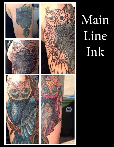 owl cover up tattoo tattoos by jennifer edge pinterest