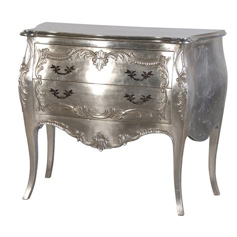Silver Furniture by Silver 2 Drawer Bombe Chest Chest