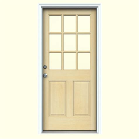 Jeld Wen Exterior Door by Ashworth Pro Series White Lite Wood Prehung Front