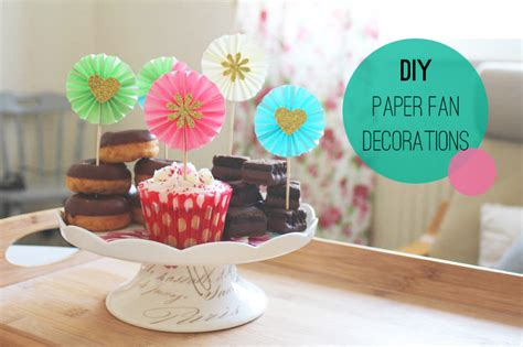 Make Decorations - diy paper fan decorations cupcake toppers bespoke